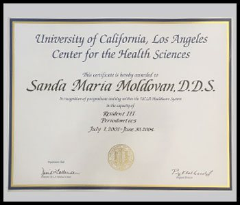 Degrees & Certifications Dr. Moldovan 3